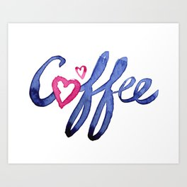 Coffee Lover Typography Art Print