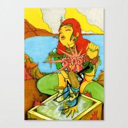 Odd Showdown At Texcoyo Gulf Canvas Print