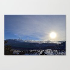 Rolling Clouds Over the Rockies Canvas Print
