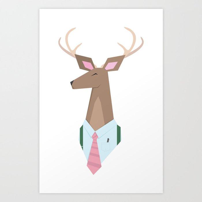 Deer Dad is a Dear Dad Art Print