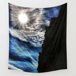 Ice Fire In The City Wall Tapestry