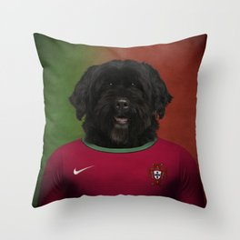 Worldcup 2014 : Portugal - Portuguese Water Dog Throw Pillow