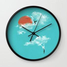 Skydivers (recolor) Wall Clock