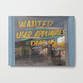 Dead Washer Office Metal Print