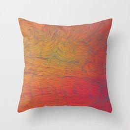 Auric Waves Throw Pillow