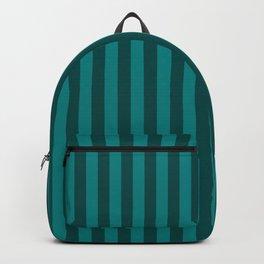 Teal Stripes Pattern Backpack