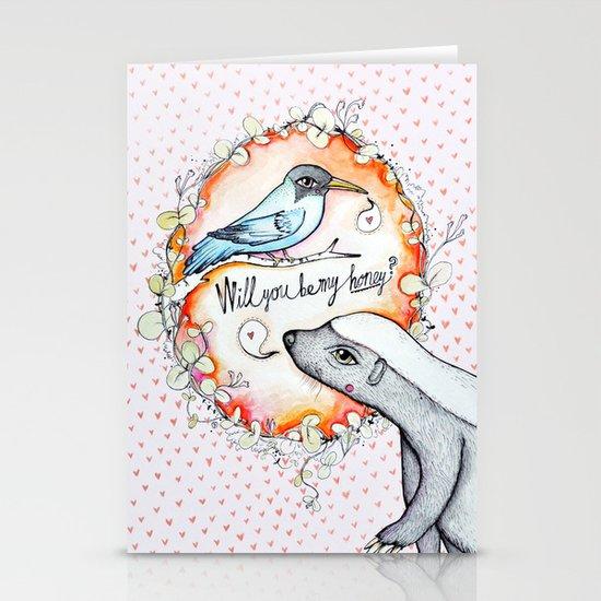 Be my honey? Stationery Cards