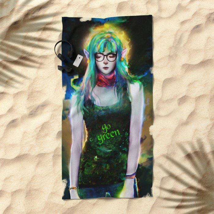 casual elf Beach Towel