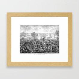 The Battle of Gettysburg Framed Art Print