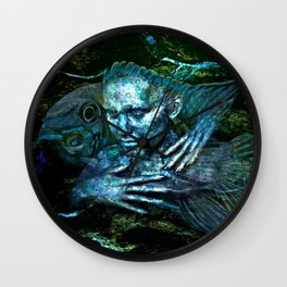 Colors swirl 'round me Wall Clock