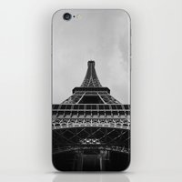 eiffel tower iPhone & iPod Skins featuring Eiffel Tower by Evan Morris Cohen