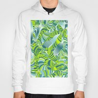 lime green Hoodies featuring lime worm by Healinglove art products