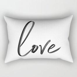 """Handwritten """"Love"""" Rectangular Pillow"""