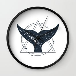 Tail Of A Whale. Geometric Style Wall Clock