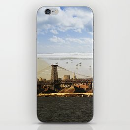 A HELICOPTER IN HER SKY, A SEAGULL ON HIS BRIDGE iPhone Skin