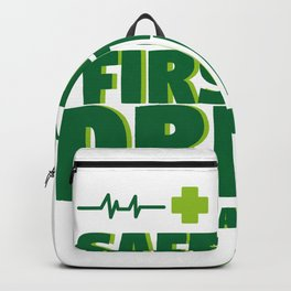 Funny St Patrick's Day Safety First Drink With A Nurse Backpack