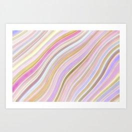 Mild Wavy Lines V Art Print