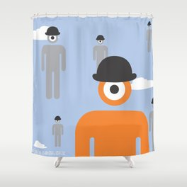 magritte glance Shower Curtain