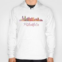 philadelphia Hoodies featuring Philadelphia Skyline by SpecialTees