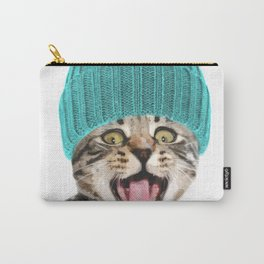 Cat with hat illustration Carry-All Pouch