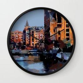 Speicherstadt VI Wall Clock