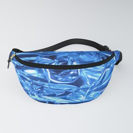 Chrome Folds with a blue Touch Fanny Pack