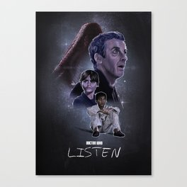Doctor Who: Listen Canvas Print