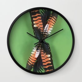Posie of Feathers Wall Clock