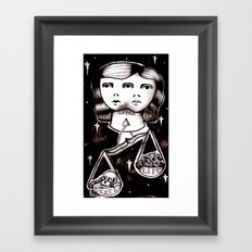 libra Framed Art Print