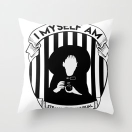 My whole life is a dark room Throw Pillow