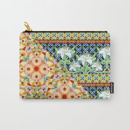 Tangerine Confetti Lilies Carry-All Pouch