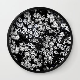 Black and White Barnacles Wall Clock