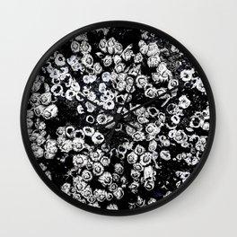 Black and White Barnacles Wall Clock