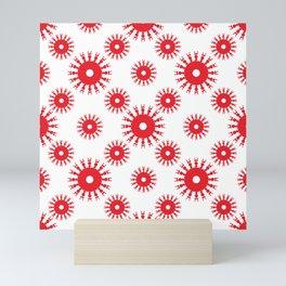 Red Snowflakes Mini Art Print