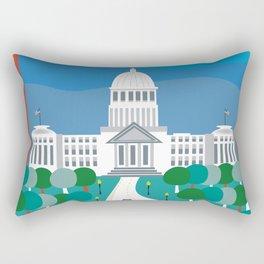 Boise, Idaho - Skyline Illustration by Loose Petals Rectangular Pillow
