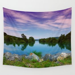 Lake in France Wall Tapestry