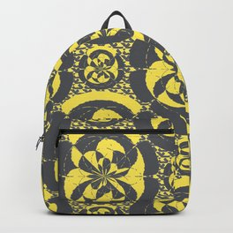 Dark grey and yellow Backpack