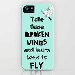 Learn how to fly iPhone Case
