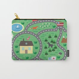 Children playmat with animals and toy cars Carry-All Pouch