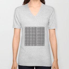 black lives matter T-Shirt Unisex V-Neck