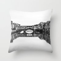 florence Throw Pillows featuring FLORENCE by Sara_photographer