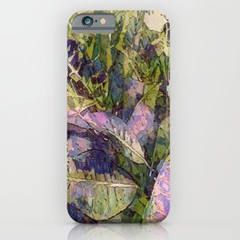 Lush Tropical Greens Lavender iPhone Case
