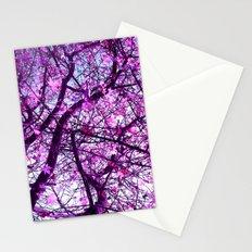 purple tree XXXII Stationery Cards