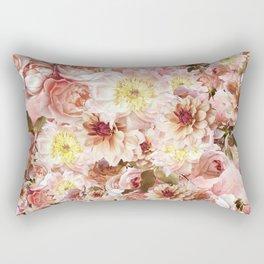 pink floral print | flower photography Rectangular Pillow
