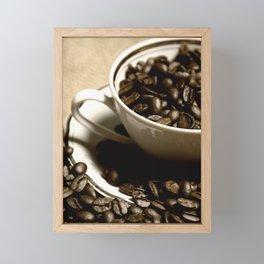 coffee cup Framed Mini Art Print