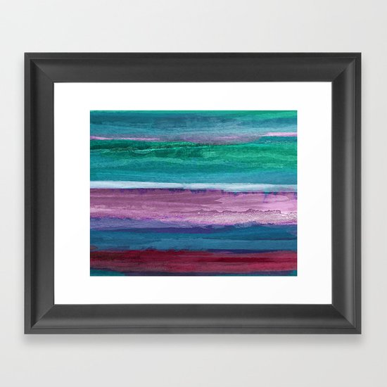 Different Strokes Framed Art Print