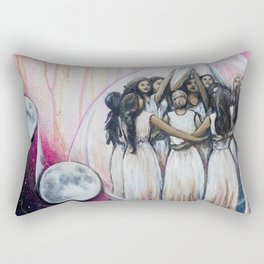 Sister Circle // Women Feminism Feminist Sisterhood Goddess Earth Moon Unity Peace Love Power Energy Rectangular Pillow