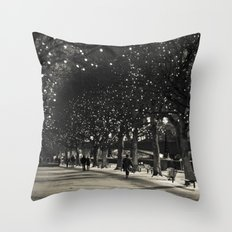 Night and lights Throw Pillow