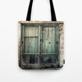 Old Green Door Tote Bag