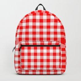 Australian Flag Red and White Jackaroo Gingham Check Backpack